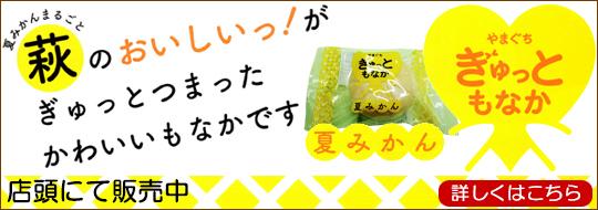 萩のおいしいがぎゅっとつまつたかわいいもなかです